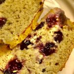 PALEO WHOLE30BANANA BREAD WITH BLUEBERRIES