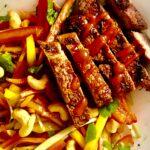 Keto Low-Carb Paleo Green Mango and Beef Salad